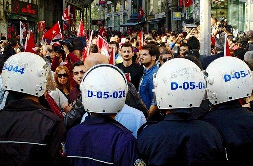 Jede noch so kleine Demonstration wird unterbunden. Foto: Krohn