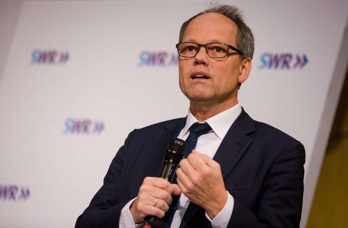 Kai Gniffke  hat sich in seinem Intendantenblog zu den   Vorwürfe von Hans-Georg Maaßen  geäußert. (Archivbild) Foto: dpa/Christoph Schmidt