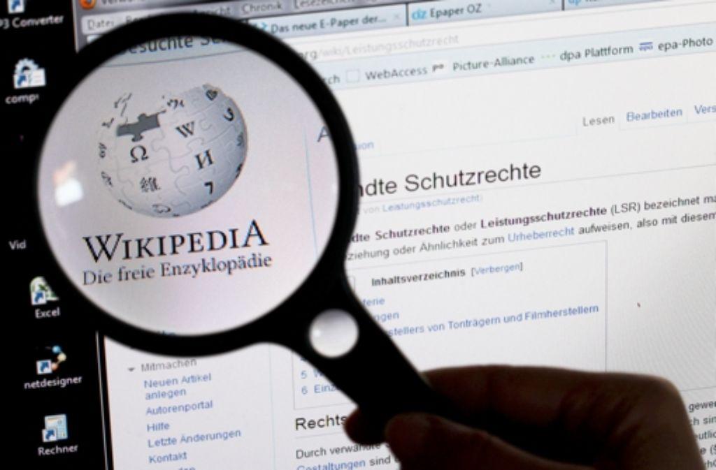Wikipedia ist ein umfangreiches Enzyklopädie-Projekt und bietet frei zugängliches Wissen. Foto: dpa