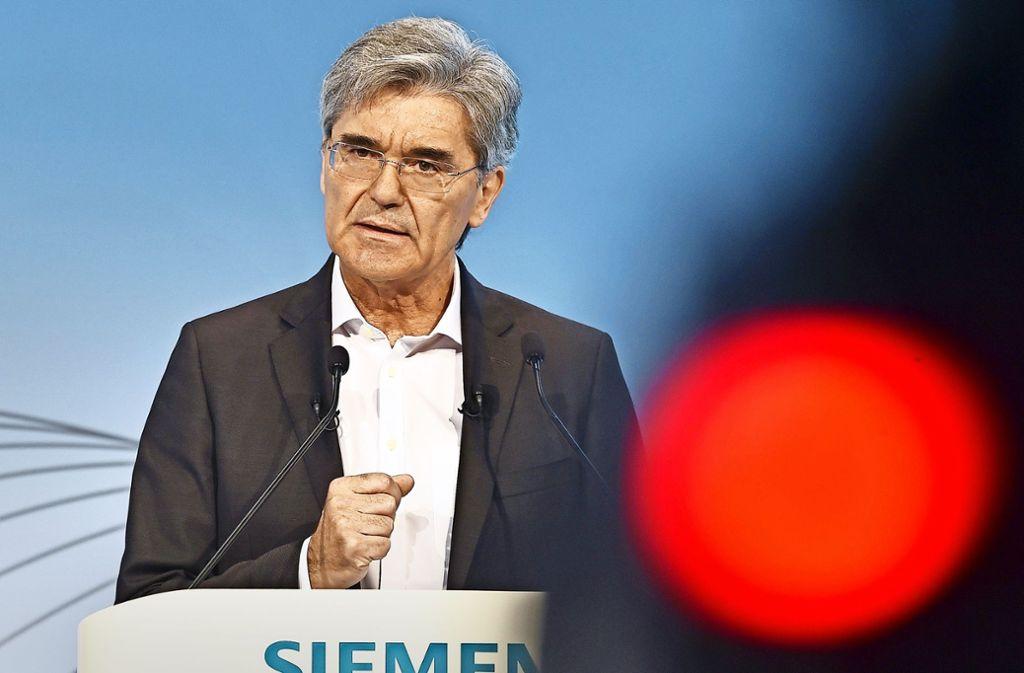 Die Strategie 2020+ ist auf die nächsten zehn Jahre angelegt – länger als der  61-jährige Joe Kaeser den Konzern lenken wird. Foto: AFP