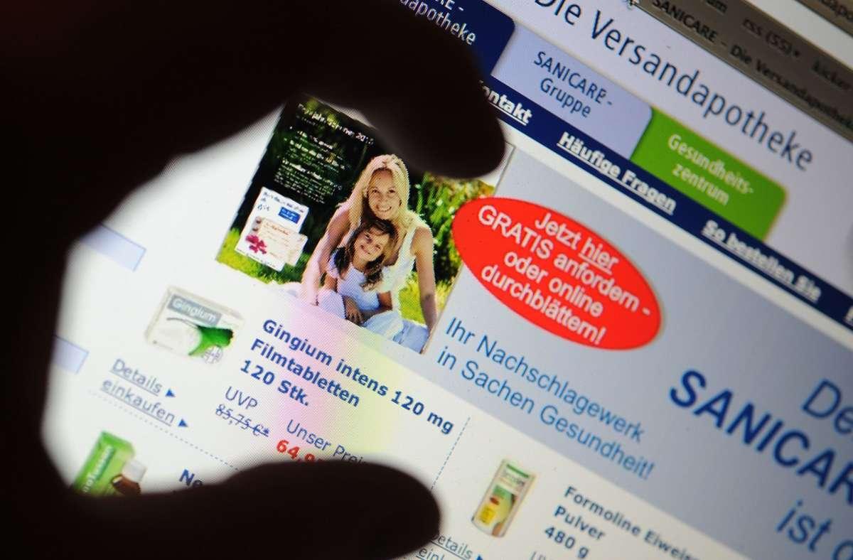 Hintergrund ist ein Streit zwischen französischen Apothekern und einer Online-Apotheke aus den Niederlanden, die im Internet speziell Kunden aus Frankreich anspricht. Foto: picture alliance / dpa/Peter Steffen