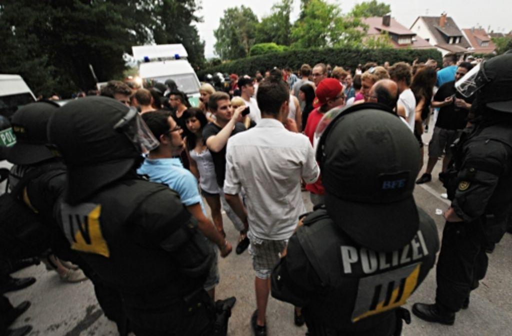 Zu Facebook-Party in Backnang kamen mehrere Tausend Jugendliche. Foto: dpa