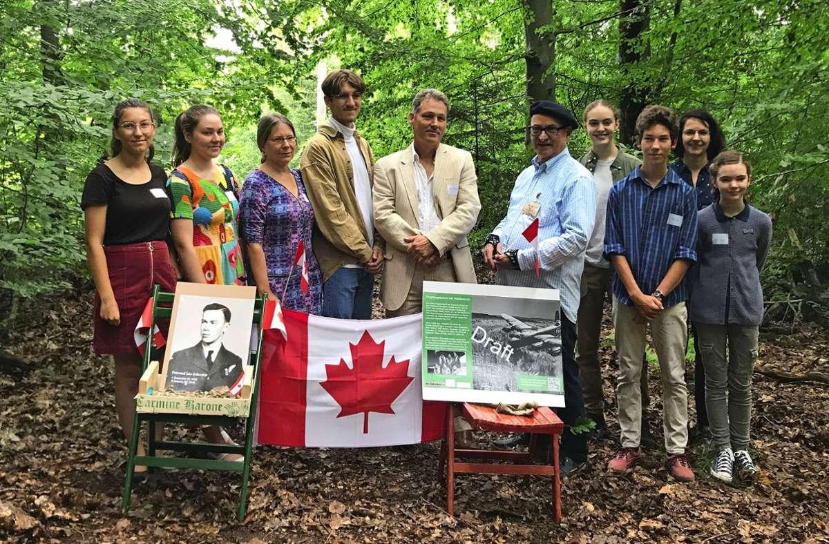 Die Gedenkfeier fand im kleinen Kreis statt. Foto: Carolin Ziegler