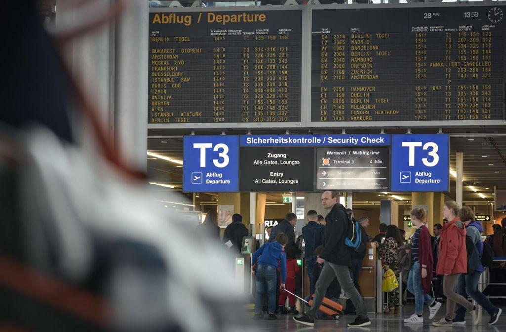 Die Gewerkschaft Verdi bestreikt vier Flughäfen in Deutschland. Auch Reisende in Stuttgart sind betroffen. Foto: Lichtgut/Max Kovalenko