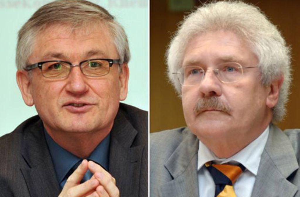 Julian Würtenberger (links), Regierungspräsident in Freiburg, und Rudolf Kühnrer (rechts), Regierungspräsident in Karlsruhe. Foto: dpa