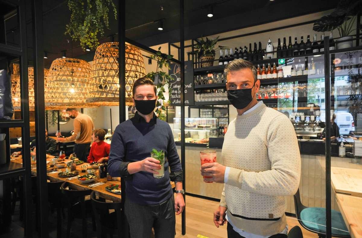 Cotidiano-Betreiber  Daniel Schmidt (re.) und  Theodor Herrmann Foto: Lichtgut/Kovalenko