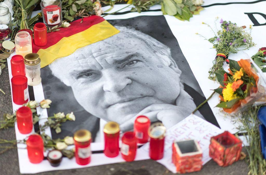 Andenken an Helmut Kohl: Die Spendenaffäre lässt ihn in trübem Licht erscheinen. Foto: Eibner-Pressefoto