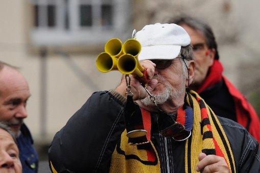 Stuttgart-21-Gegner demonstrieren für den Ausstieg