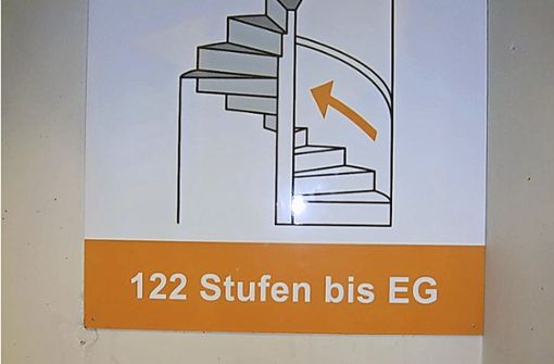 So viele Stufen wie rauf auf den Engelbergturm