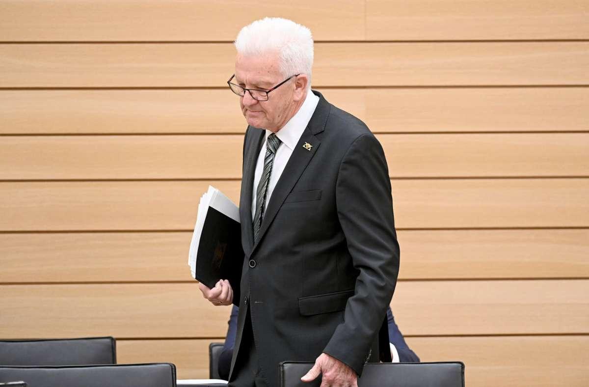 Kretschmanns Regierungssprecher reagierte mit einem Dementi auf die FDP-Spekulationen. Foto: dpa/Bernd Weissbrod