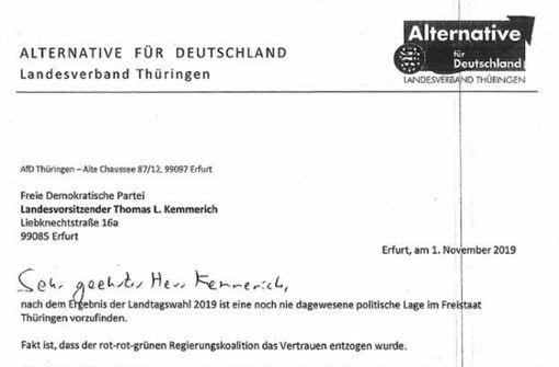 Höcke bot Kemmerich Zusammenarbeit an