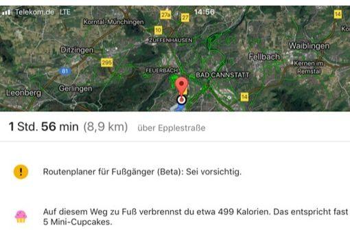 Google stoppt den Kalorienzähler für Maps