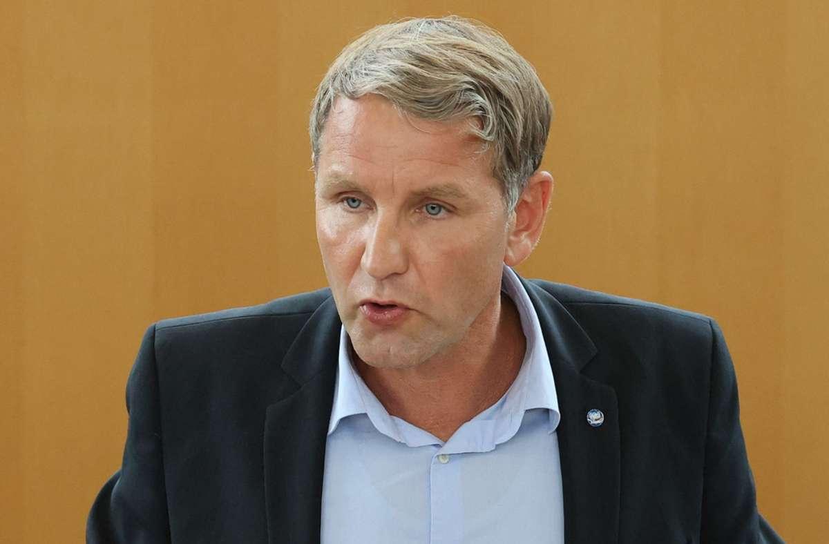 Björn Höcke wurde vom Thüringer Landesverband der AfD im Amt bestätigt. (Archivbild) Foto: dpa/Bodo Schackow