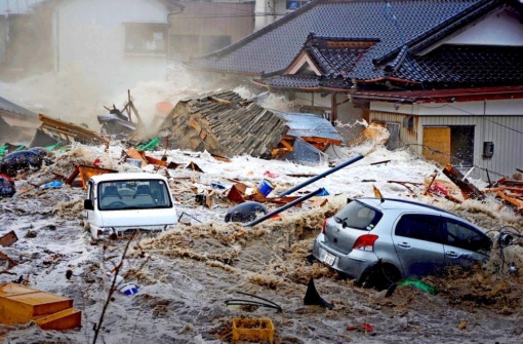 Als ginge die Welt unter: Saijo Kakichi hat 2011 die Katastrophe in Japan fotografiert. Foto: Japan Professional Photographers Society 2012, Japanisches Kulturinstitut