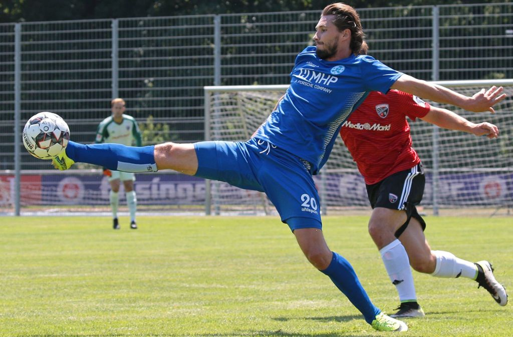 Der mit Abstand beste Torschütze der Stuttgarter Kickers: Mijo Tunjic hat in dieser Saison bereits zwölf Tore erzielt, darunter war ein Elfmetertreffer. Foto: Baumann