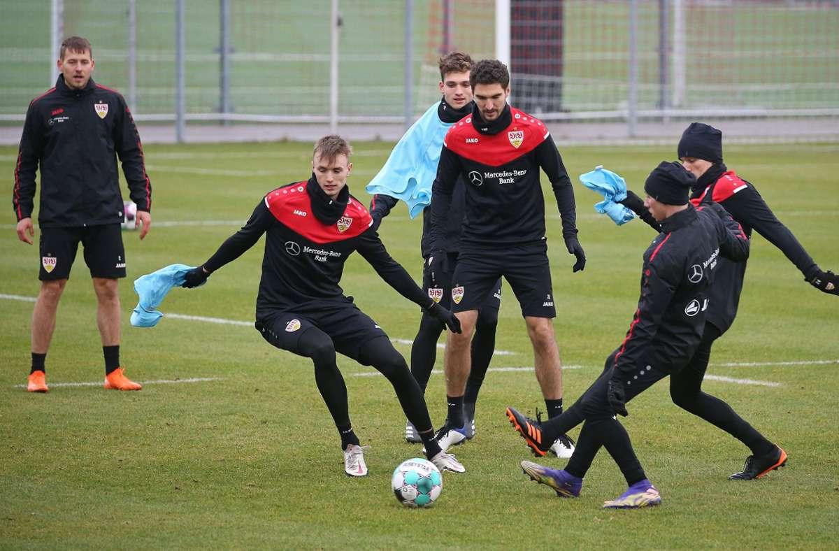 Fit  machen für Teil zwei der Bundesliga-Hinrunde: Die VfB-Profis haben das Training wieder aufgenommen. Foto: