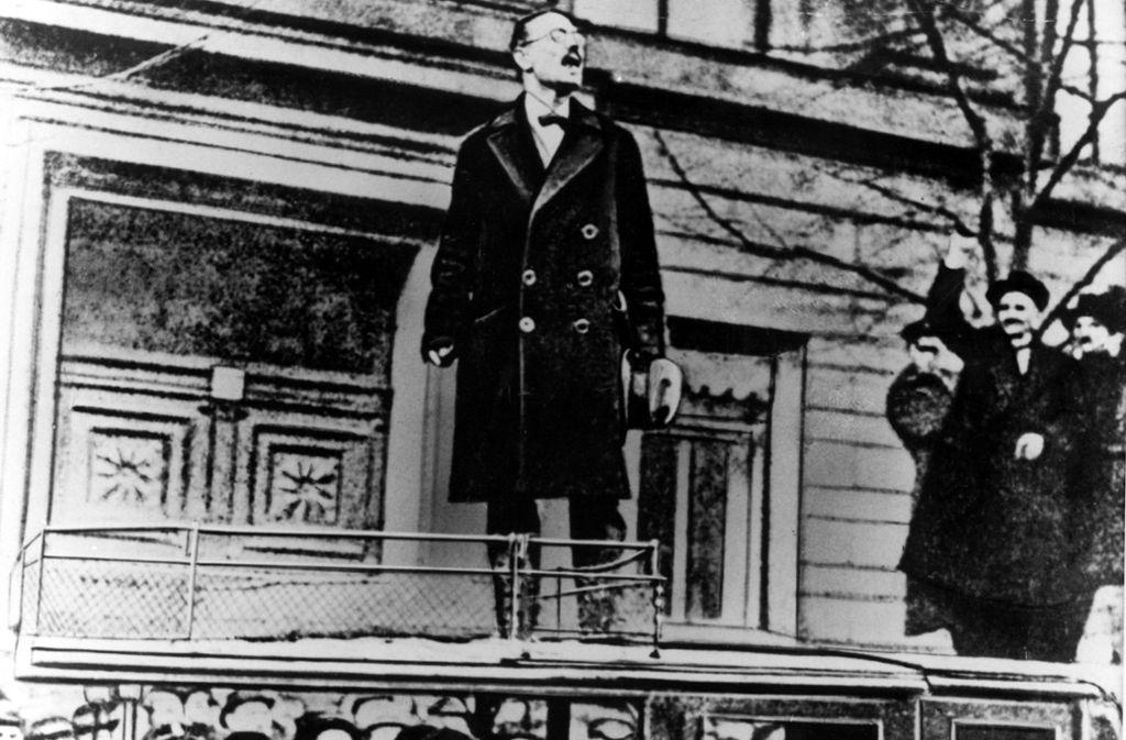 Linksaußen der Revolution: Karl Liebknecht, Führer des kommunistischen Spartakusbundes. Foto: Keystone