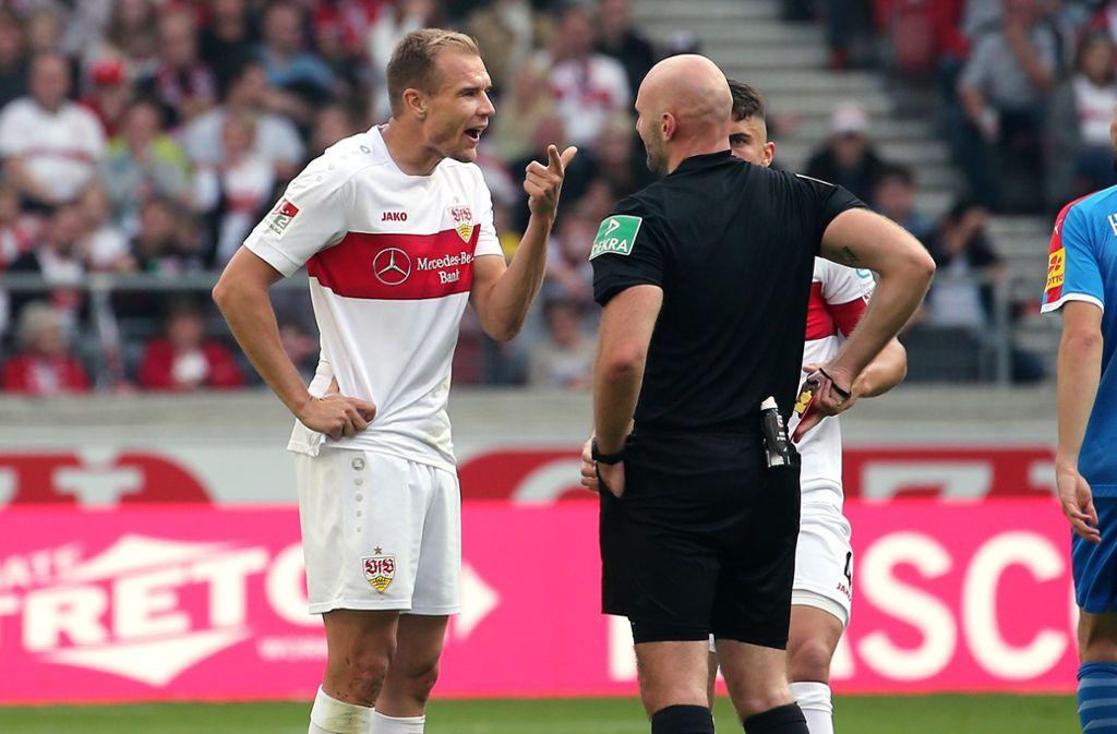 Die Schiedsrichter-Beschimpfung brachte Badstuber eine Sperre ein. (Archivbild) Foto: Pressefoto Baumann/Julia Rahn