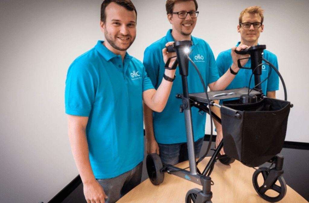 Das Team von eMovements: v.l. Benjamin Rudolph, Max Keßler, Matthias Geertsema. Foto: Lichtgut/Zweygarth