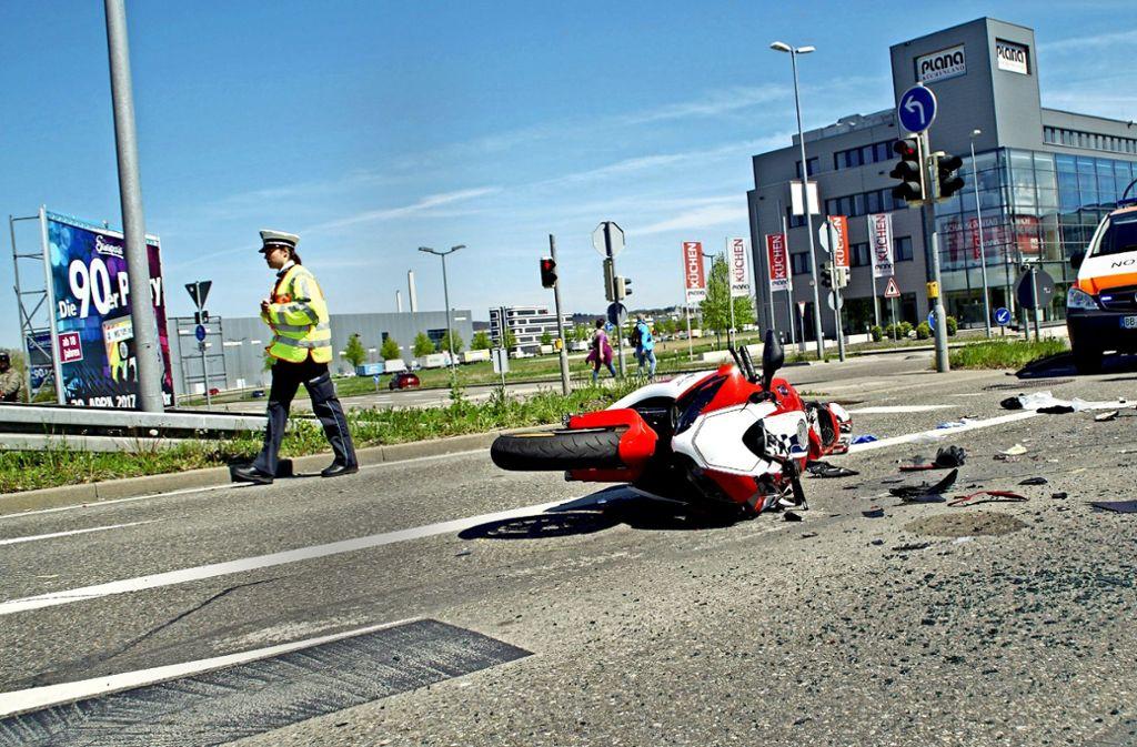 Ein 36-jähriger Motorradfahrer starb 2017 nach dem Unfall im Krankenhaus. Foto: SDMG