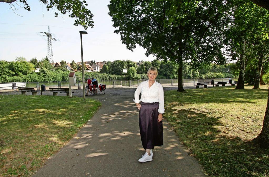 Seit der Runderneuerung des Ufers hält Susanne Thie mit ihren Ausflugsschiffen besonders gern am Anleger in Ludwigsburg-Hoheneck. Foto: factum/Bach