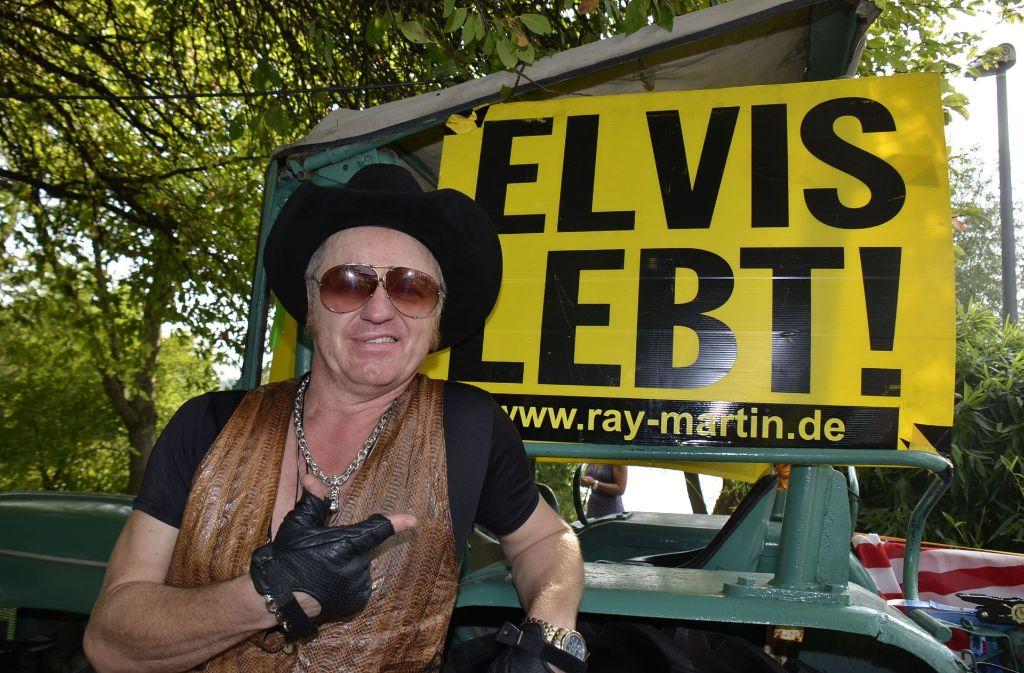 Ray Martin ist Deutschlands bekanntester Elvis-Imitator. Foto: Andreas Rosar Fotoagentur-Stuttg