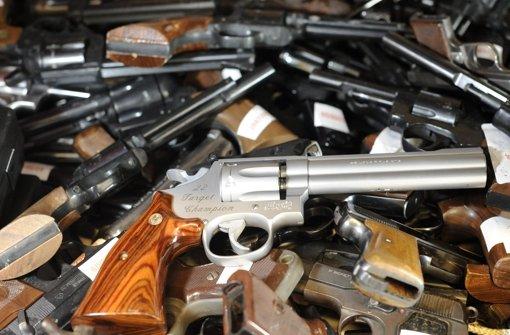 Sieben Millionen registrierte Waffen gibt es in Deutschland. Foto: dapd