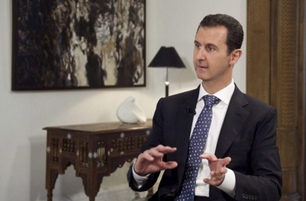 Syriens blutiger Herrscher Assad   will keine Macht abgeben. Foto: dpa