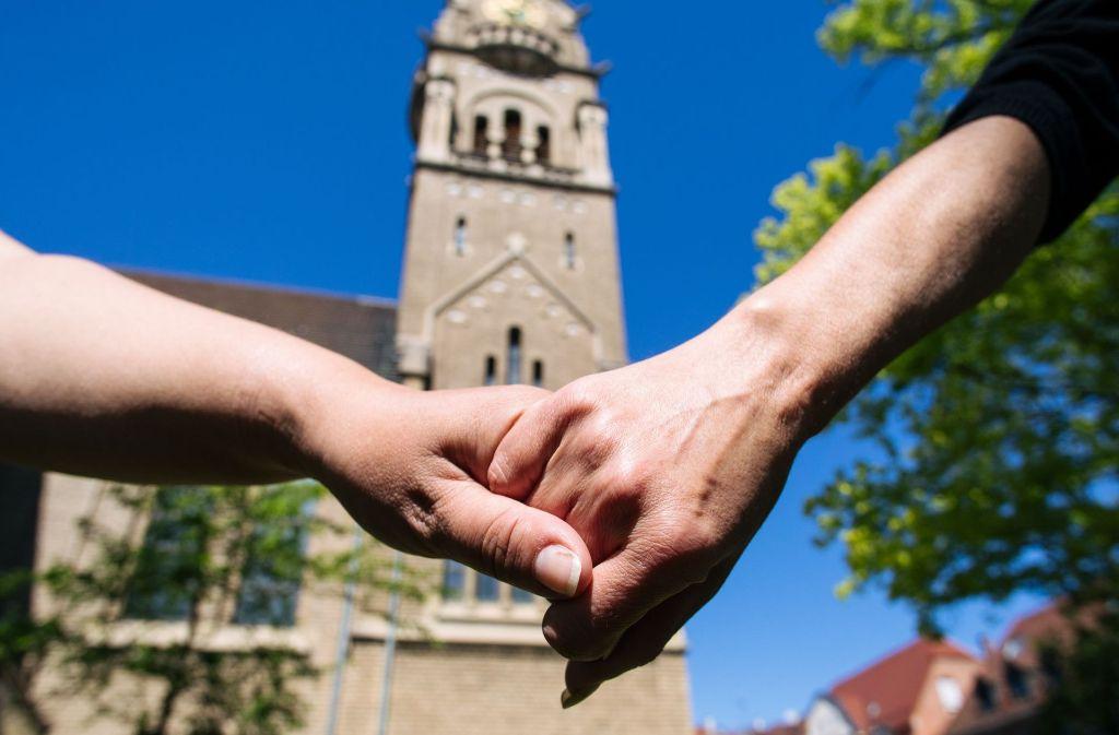 Die evangelische Kirchengemeinde Zuffenhausen heißt schwule und lesbische Paare willkommen. Foto: Lichtgut/Verena Ecker