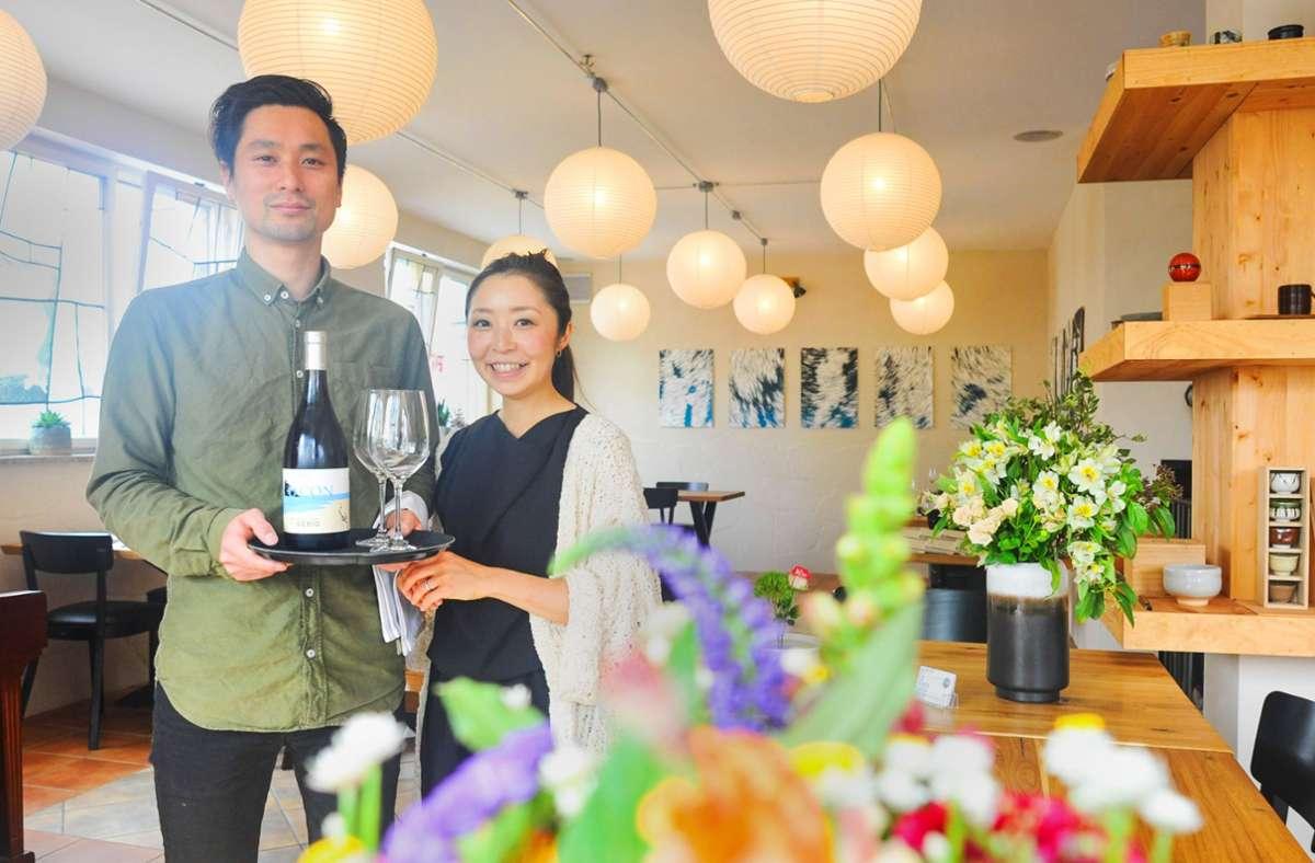 Shinichi Nakagawa und seine Frau Kanako haben während des Lockdowns das Restaurant Nagare eröffnet. Jetzt kann man endlich vor Ort essen. Wie famos die Menüs sind, sehen Sie in unserer Bildergalerie. Foto: Lichtgut/Max Kovalenko