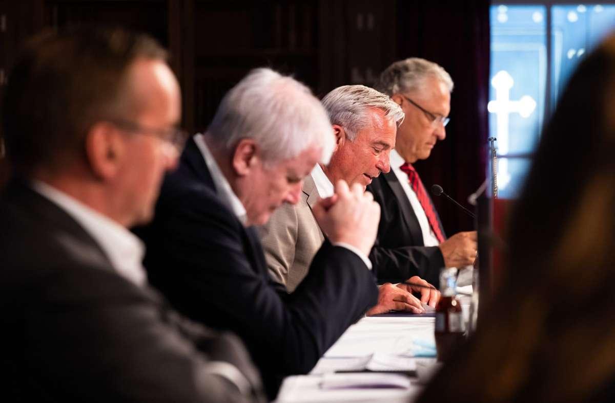 Pressekonferenz zum Abschluss der Innenministerkonferenz Foto: dpa/Philipp von Ditfurth