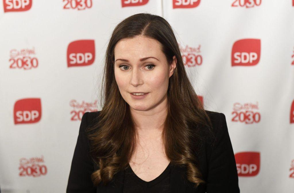Die Sozialdemokratin Sanna Marin wird Finnlands neue Regierungschefin. Foto: AFP/VESA MOILANEN