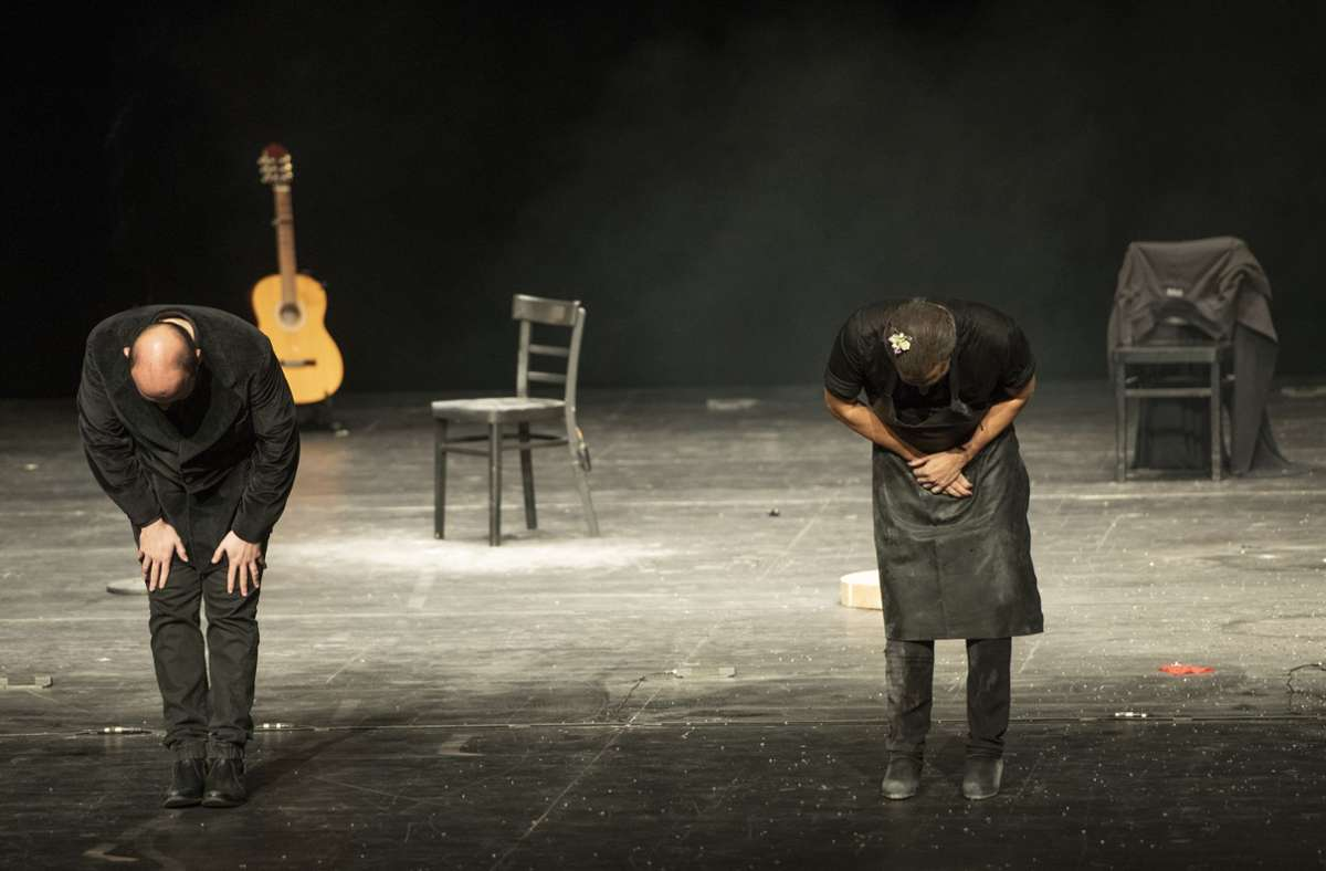 """Gastspiel """"Mellizo Doble"""", Israel Galván  Nino de Elche, Staatsoper Stuttgart, 1. November Foto: Popbüro / Reiner Pfisterer"""