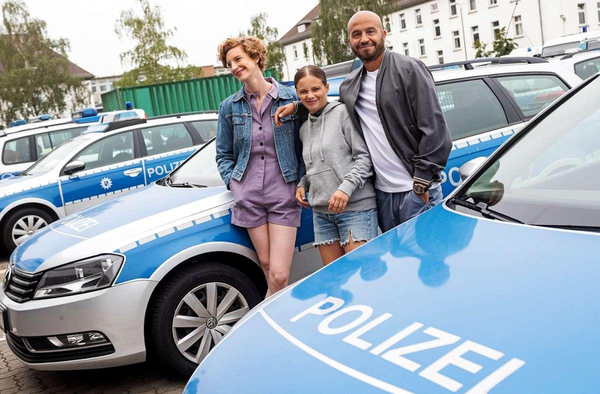 """Das neue Bremer """"Tatort""""-Team (von links): Luise Wolfram, Jasna Fritzi Bauer und Dar Salim Foto: Radio Bremen/Matthias Hornung"""