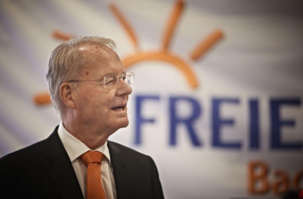 Der 72-jährige Hans-Olaf Henkel ist voller Wut – vor allem auf die FDP. Foto: Heinz Heiss