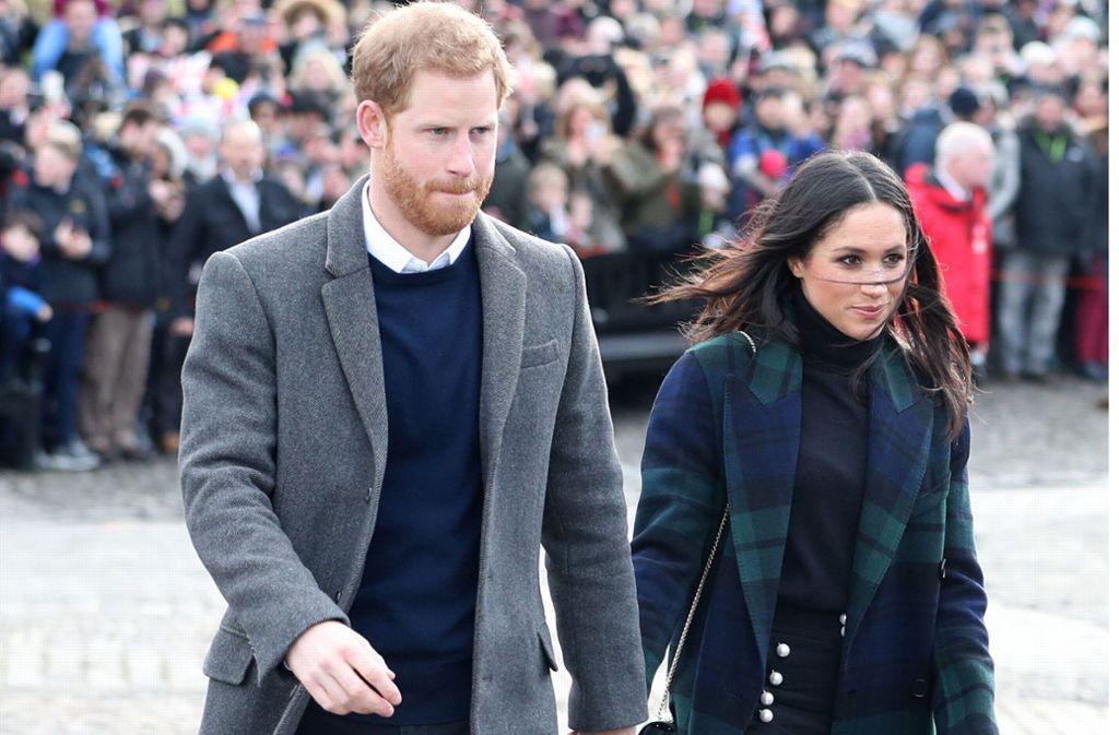 Prinz Harry und seine Frau Meghan im schottischen  Edinburgh Foto: dpa