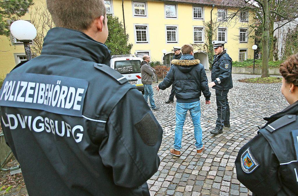 2012 wurden die ersten Hilfspolizisten in Ludwigsburg  ausgebildet. Foto: factum/Archiv