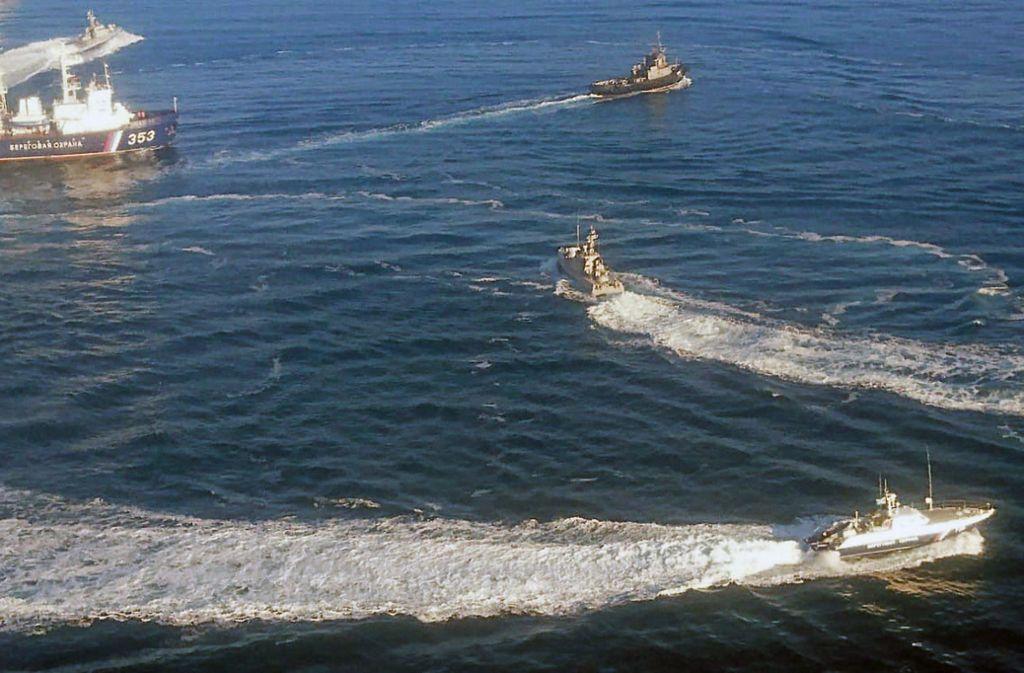 Die russische Flotte im Schwarzen Meer ist der ukrainischen Marine weit überlegen. Foto: Tass