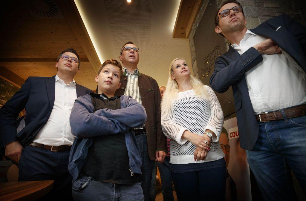 Schlechte Stimmung bei der CDU-Wahlparty in Winterbach. Foto: Gottfried Stoppel