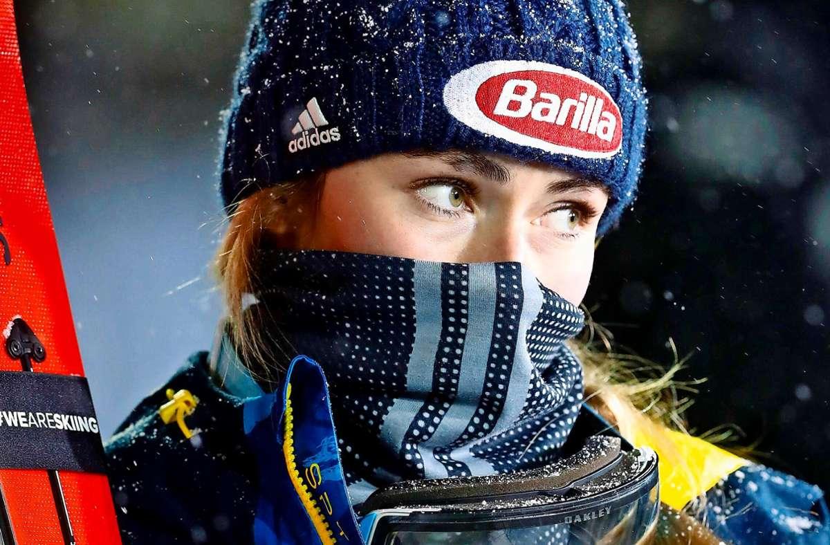 Mikaela Shiffrins Blick wirkt noch etwas traurig. Foto: imago/Newspix24
