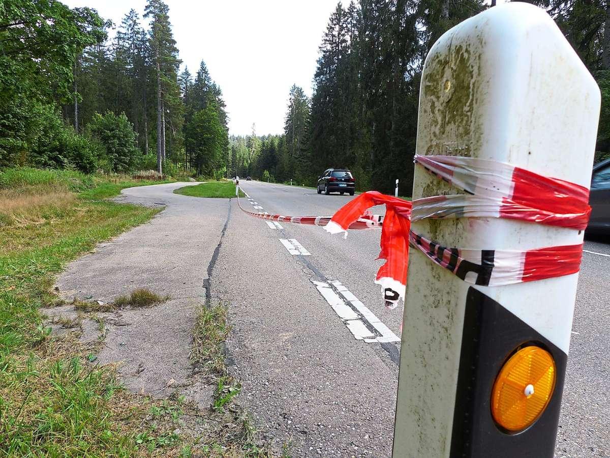 An dieser Parkbucht wurde die Leiche gefunden. Foto: Müller