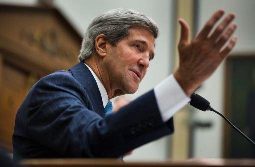 Kerry bemüht sich um Waffenruhe
