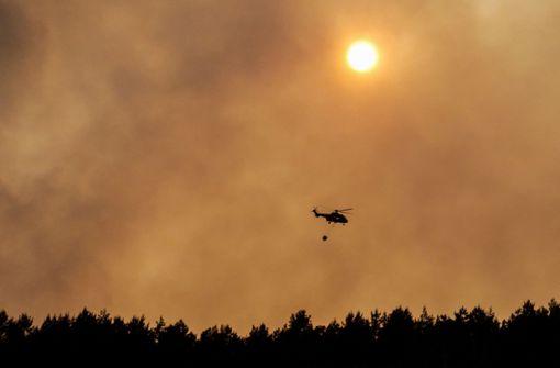 Luftwaffe hilft bei Bekämpfung von Waldbrand in Brandenburg