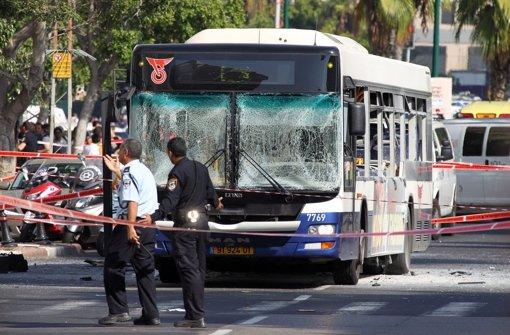 Bei einem Bombenanschlag in Tel Aviv wurden mindestens zehn Menschen verletzt. Foto: EPA
