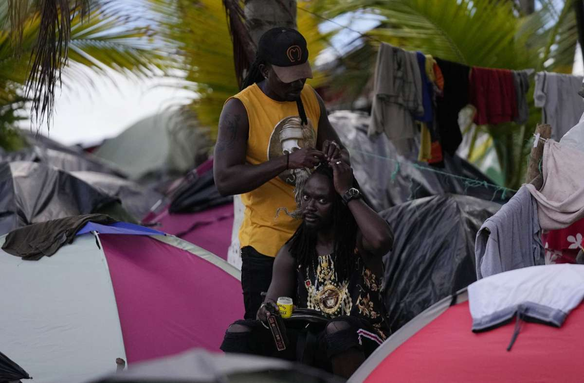 Flüchtlingslager in Kolumbien Foto: dpa/Fernando Vergara