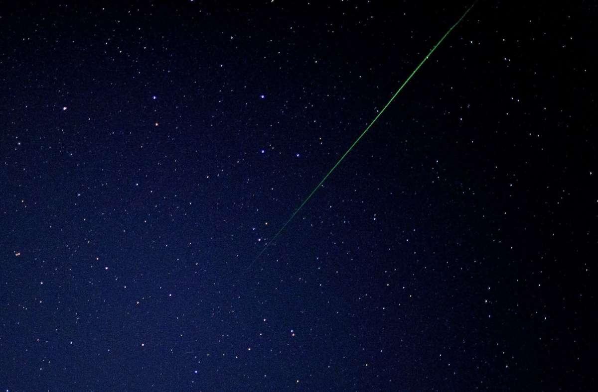 In der Nacht zum 9. Oktober werden voraussichtlich am meisten Sternschnuppen sichtbar sein (Archivbild). Foto: dpa/Patrick Pleul
