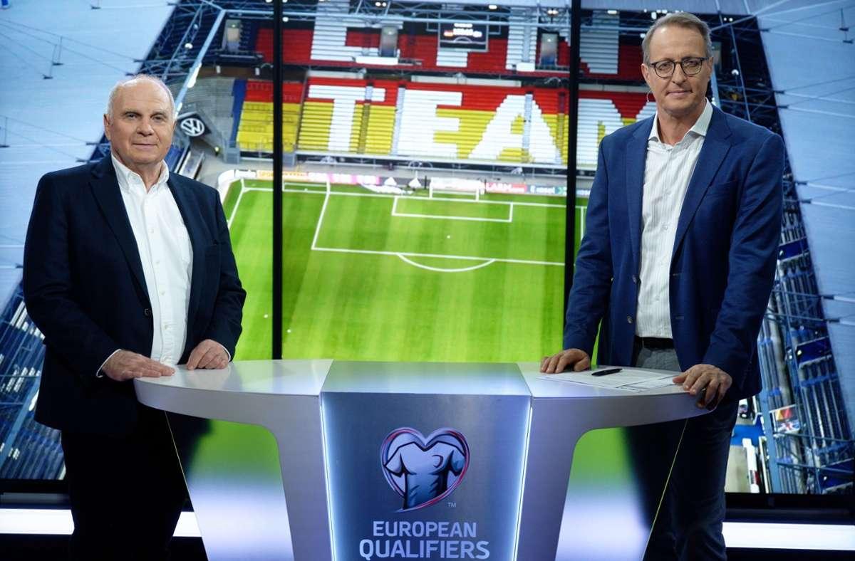 Uli Hoeneß sorgte als TV-Experte bei RTL für Schlagzeilen. Foto: dpa/Henning Kaiser