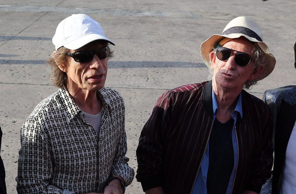 """Mick Jagger und Keith Richards (Archivfoto) sind """"heiß auf Stuttgart"""". Foto: dpa"""