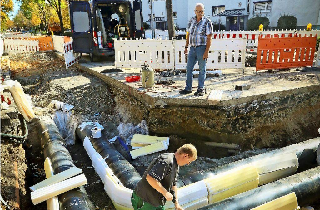 Die Baustelle in der Eugen-Bolz-Straße sorgte im  Herbst  2017 für Unmut. Foto: factum/Granville