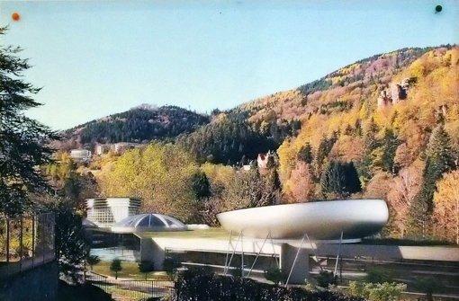 Nur ein Traum von Lokalpolitikern: die futuristische Bäderlandschaft im verarmten Bad Herrenalb. Foto: StZ